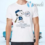 Snoopy Los Angeles Dodgers world series Champions 2020 T-Shirts