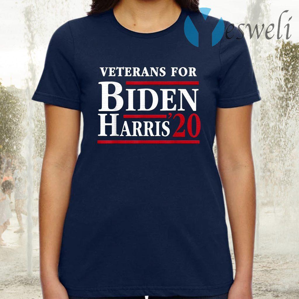 Veterans For Joe Biden Kamala Harris 2020 Election T-Shirt