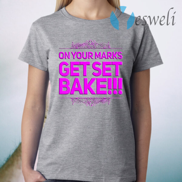 Womens Get Set Bake Great Gift For British Fans Off Baking T-Shirt