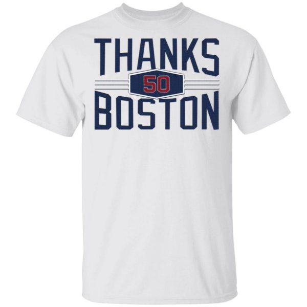 Mookie Betts Thanks 50 Boston T-Shirt