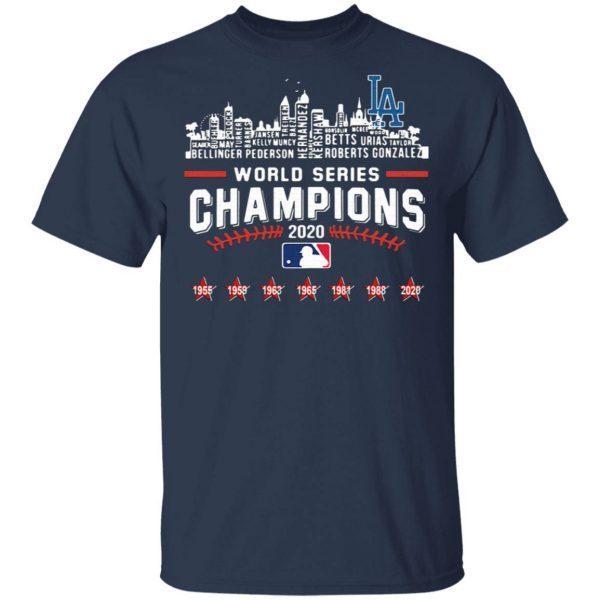 Los Angeles Dodgers World Series Champions 2020 Baseball MLB T-Shirt