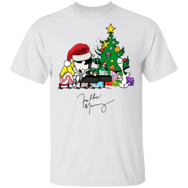 Freddie Mercury Playing Piano Christmas T-Shirt