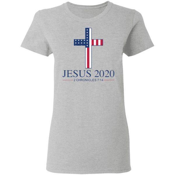 Jesus 2020 2 Chronicles 7 14 America Flag T-Shirt
