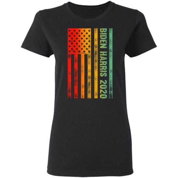 Biden Harris 2020 Classic American Flag Vintage Retro Style T-Shirt