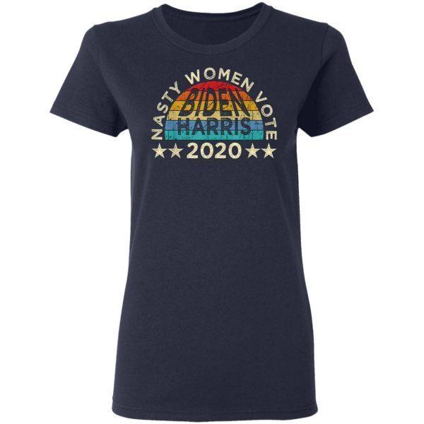 Vintage Nasty Women Vote Harris Biden 2020 Feminist Election T-Shirt