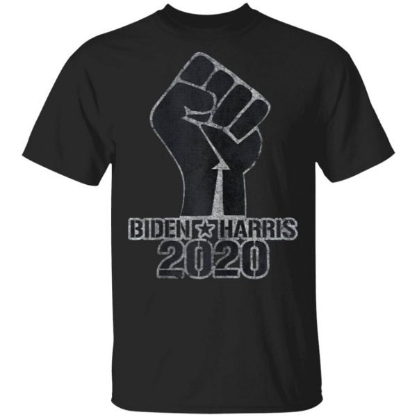 Vote with Black Lives Matter Raised Fist with Biden & Harris T-Shirt