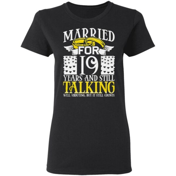 19th Wedding Anniversary for Wife Her Marriage T-Shirt