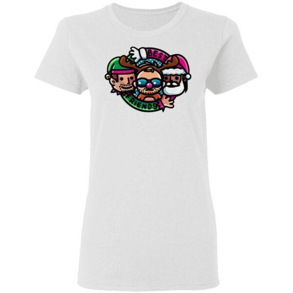 Best Friends And Orange Cassidy Best Friends Christmas Cartoon T-Shirt