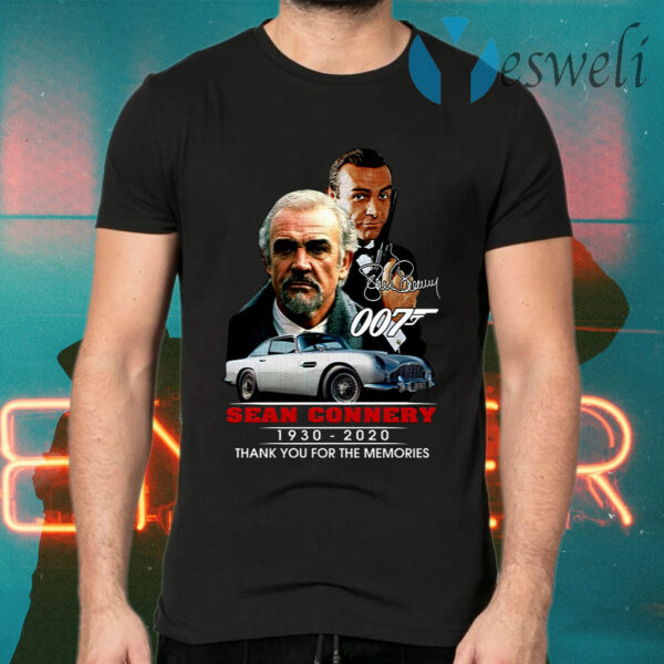007 Sean Connery 1930 2020 Thank You For The Memories T-Shirts