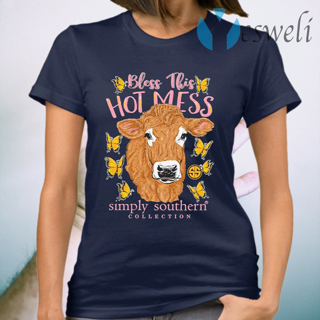 Bless This Hot Mess Simple Southern Collection T-Shirt