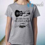 Fleetwood Mac She Rules Her Life Like A Bird In Flight Signatures T-Shirt
