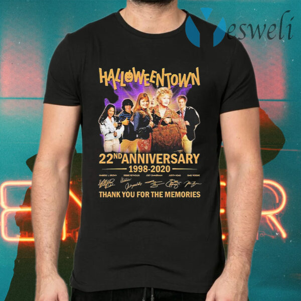 HalloweenTown 22nd anniversary 1998 2020 thank you for the memories signatures T-Shirts