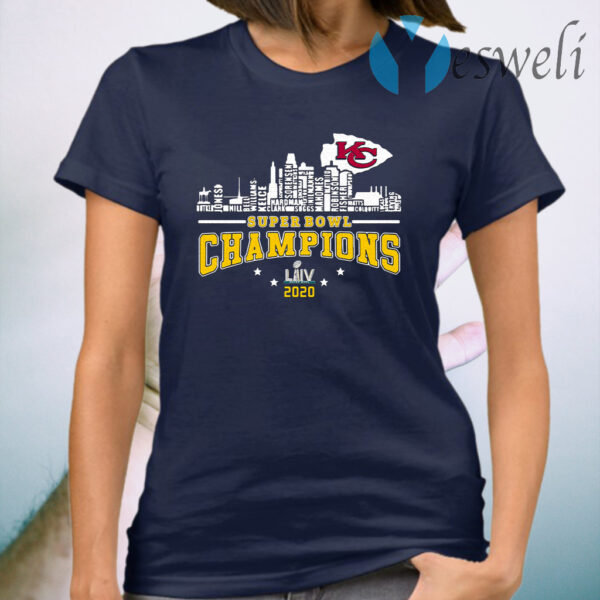 Kansas City Chiefs Player Name Super Bowl Champions 2020 Name T-Shirt