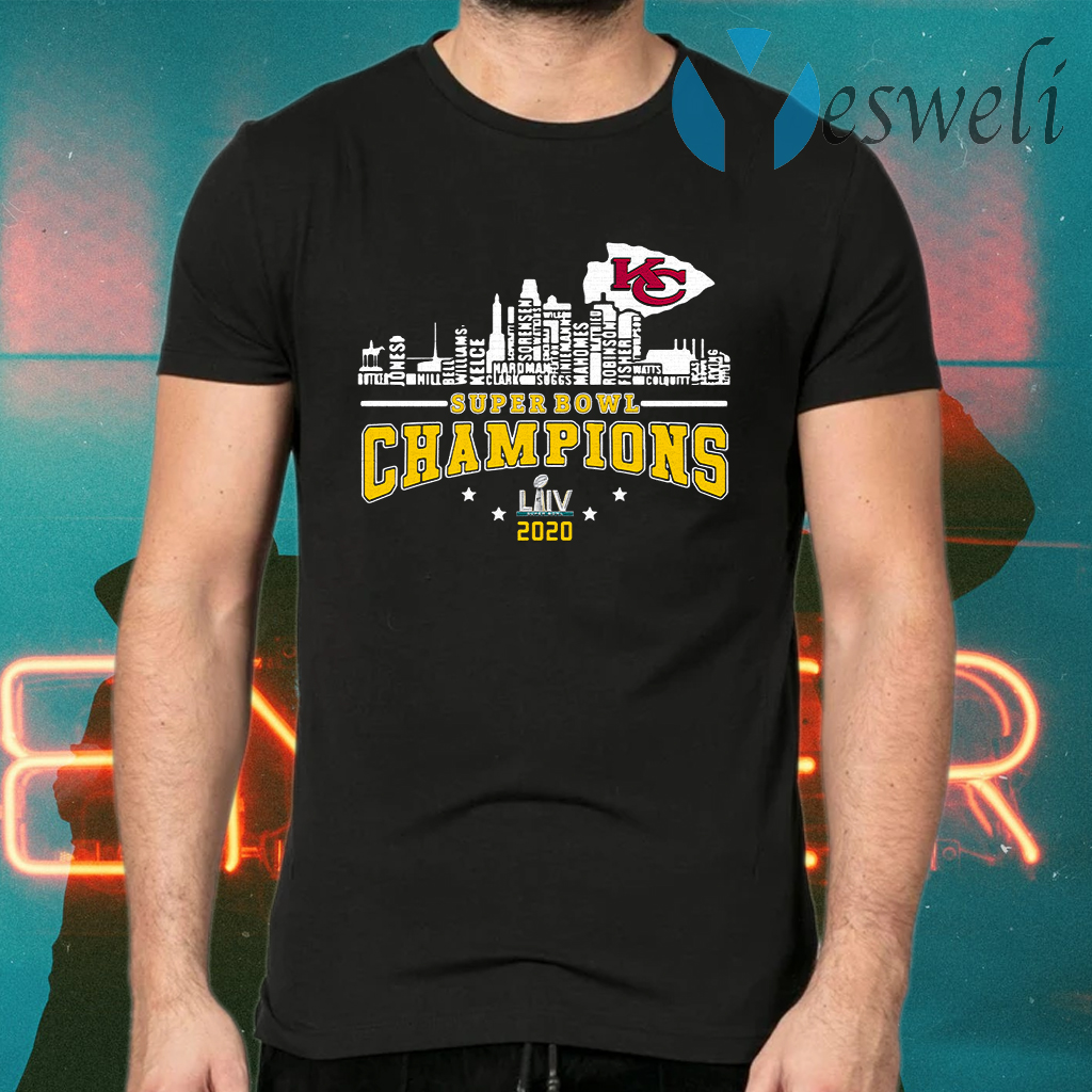 Kansas City Chiefs Player Name Super Bowl Champions 2020 Name T-Shirts