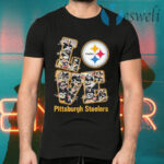 Love Pittsburgh Steelers signatures T-Shirts