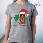 Mele Kalikimaka Merry Christmas Hawaiian Tiki T-Shirt