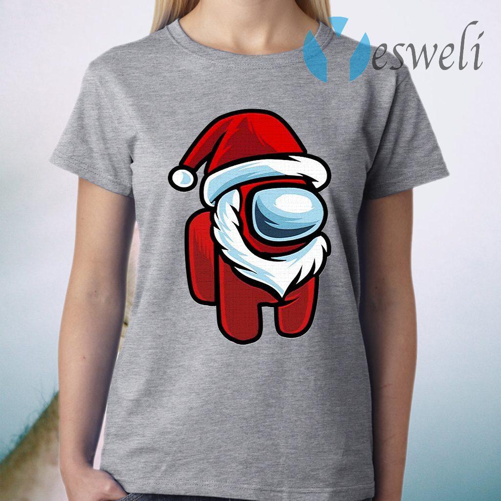 Red Impostor Among Us Santa Christmas T-Shirt