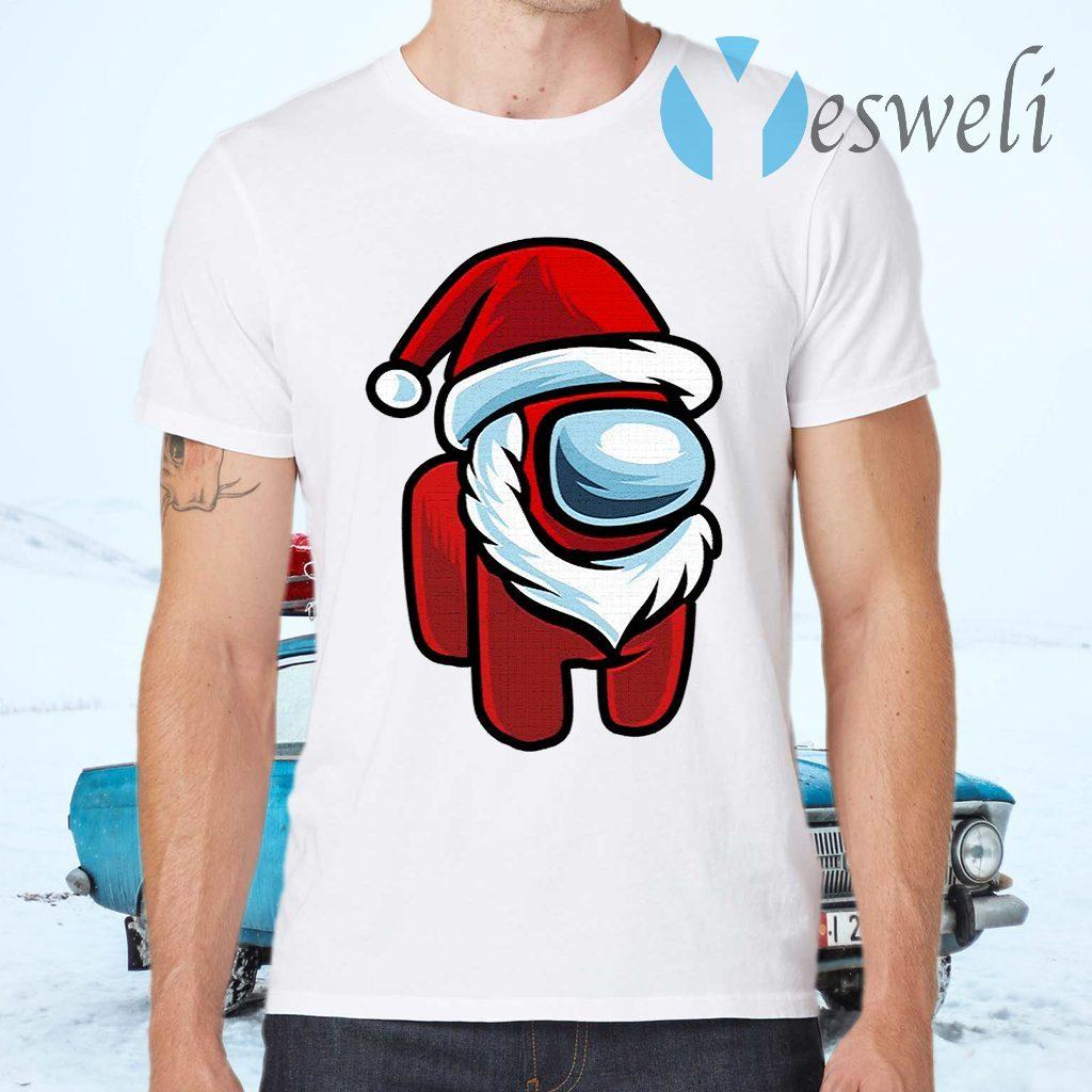 Red Impostor Among Us Santa Christmas T-Shirts