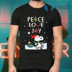 Snoopy Peace Love Joy Christmas T-Shirts