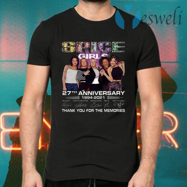 Spice Girls 27th Anniversary 1994 2021 Melanie C Victoria Beckham Emma Bunton Mel B Thank You For The Memories T-Shirts