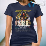 Star Wars 44th anniversary 1977 2021 thank you for the memories signatures T-Shirt