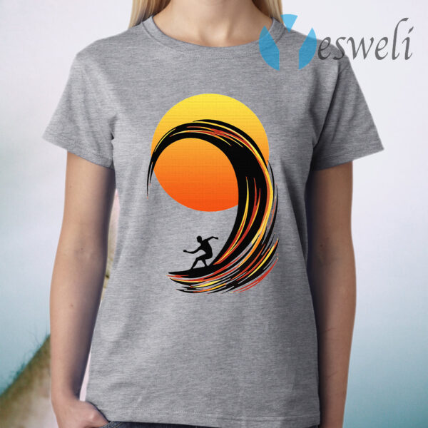 Surfing At Sunrise T-Shirt