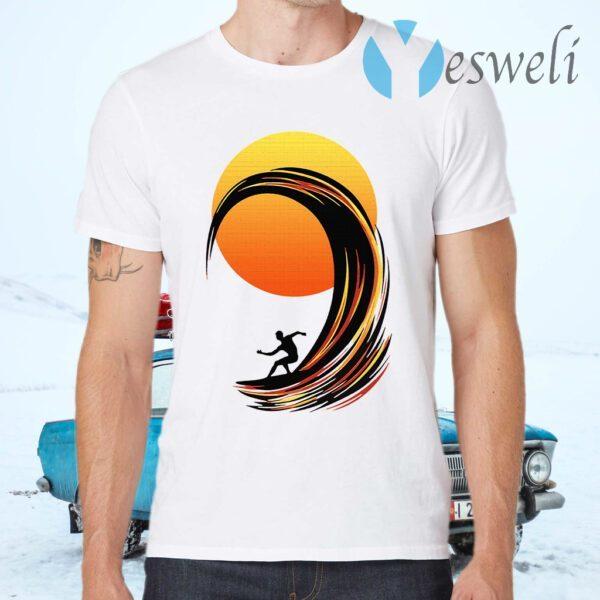 Surfing At Sunrise T-Shirts