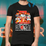 The Cleveland Browns 75th anniversary 1946 2021 thank you for the memories T-Shirts