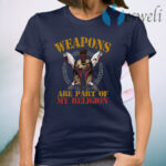 Weapons Are Part Of My Religion Spartan Knight's Helmet And Swords T-Shirt