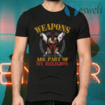 Weapons Are Part Of My Religion Spartan Knight's Helmet And Swords T-Shirts