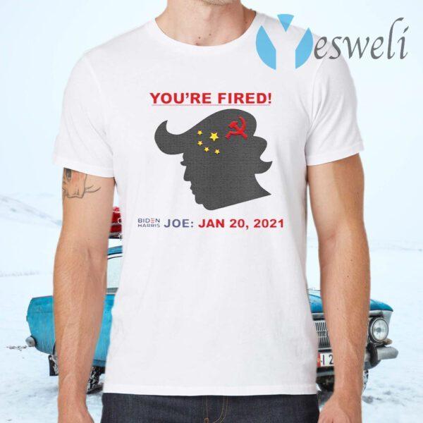 You're Fired Biden Harris Joe Jan 20 2021 Donald Trump China Flag T-Shirts