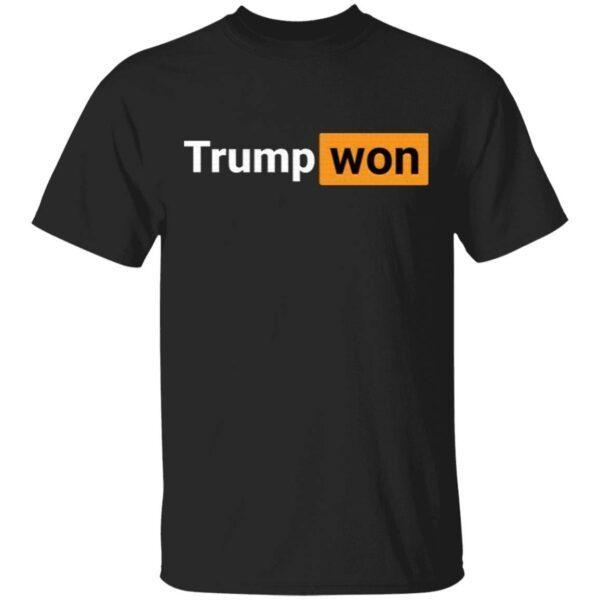 Trump Won Donald Trump 4 More Years Vote Trump Republican Gift T-Shirt