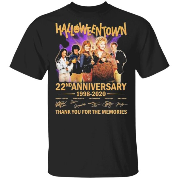 HalloweenTown 22nd anniversary 1998 2020 thank you for the memories signatures T-Shirt