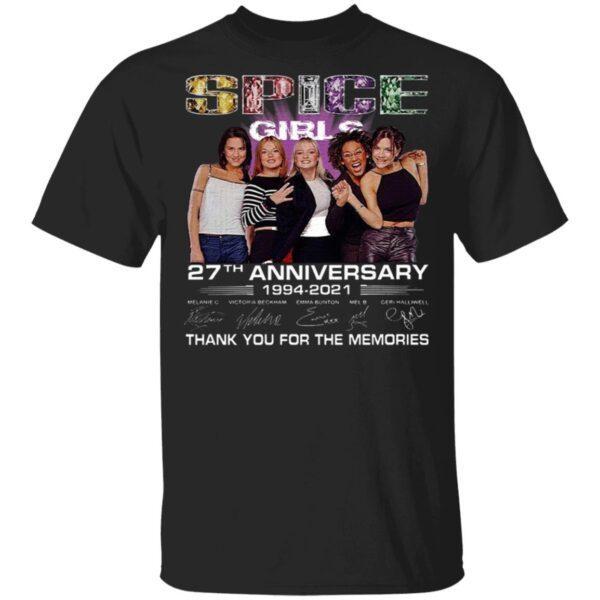 Spice Girls 27th Anniversary 1994 2021 Melanie C Victoria Beckham Emma Bunton Mel B Thank You For The Memories T-Shirt