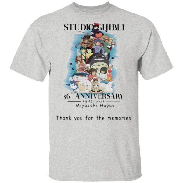 Studio Ghibli 36th anniversary 1985 2021 Miyazaki Hayao thank you for the memories signature T-Shirt