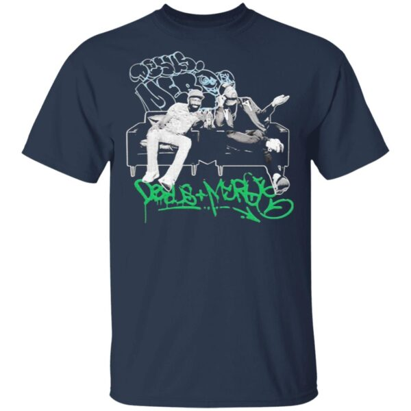 Bodega Boys Merch Desus Mero Graffiti Couch Adult Short T-Shirt