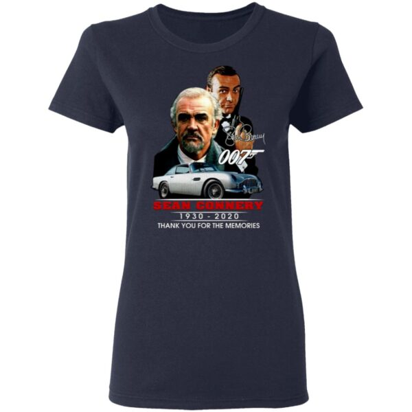 007 Sean Connery 1930 2020 Thank You For The Memories T-Shirt