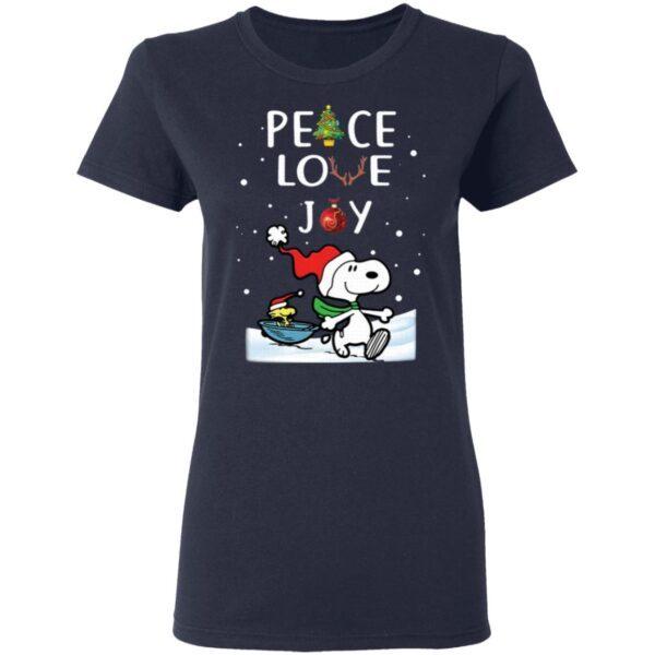 Snoopy Peace Love Joy Christmas T-Shirt