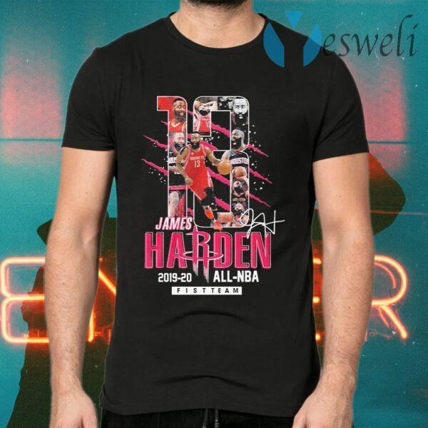 13 James Harden Rockets 2019 2020 all NBA fistteam signature T-Shirts