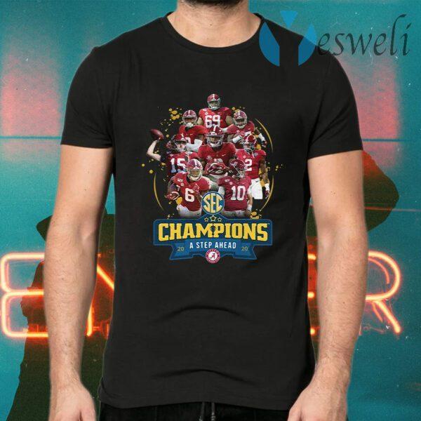 Alabama Crimson Tide SEC Champions a step ahead 2020 T-Shirt