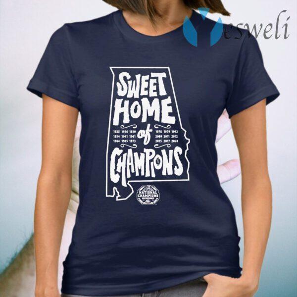 Alabama football sweet home of champions T-Shirt