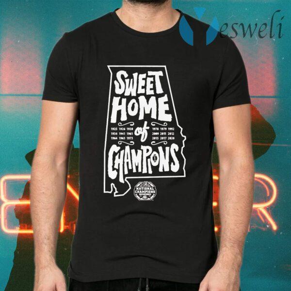 Alabama football sweet home of champions T-Shirts