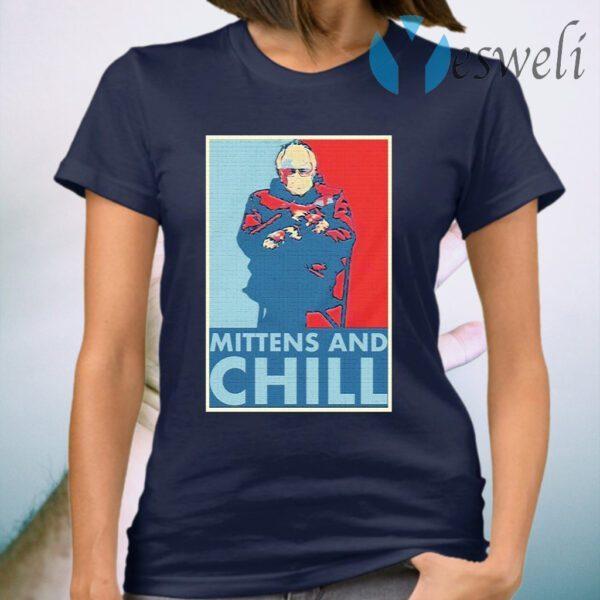 Bernie Sanders mittens and chill T-Shirt