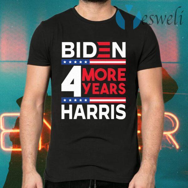 Biden Harris 2021 4 More Years 46th President Female Vice President T-Shirt