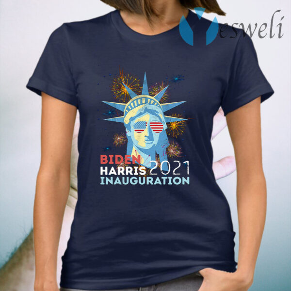 Biden Victory Inauguration 2021 Liberty Fireworks Vintage T-Shirt