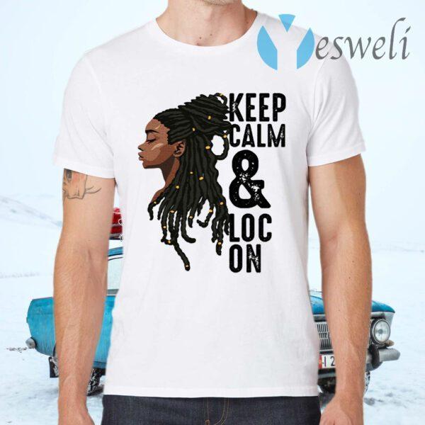 Black Melanin Dreadlocks Gift Cute Afro Loc Girl Women T-Shirts