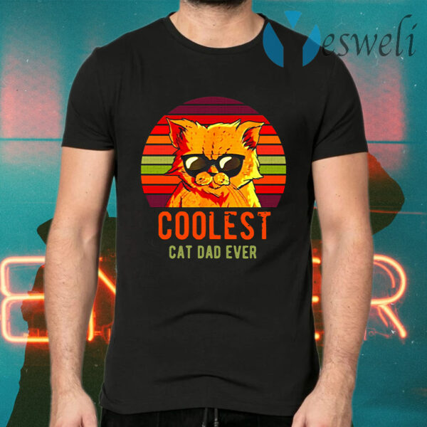 Coolest Cat Dad Ever Vintage T-Shirts