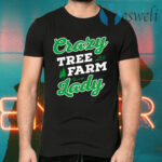 Crazy Tree Farm Lady Christmas Tree Merry Xmas T-Shirts