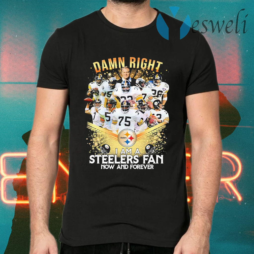 Damn right I am a Pittsburgh Steelers Fan now and forever Diamond T-Shirts