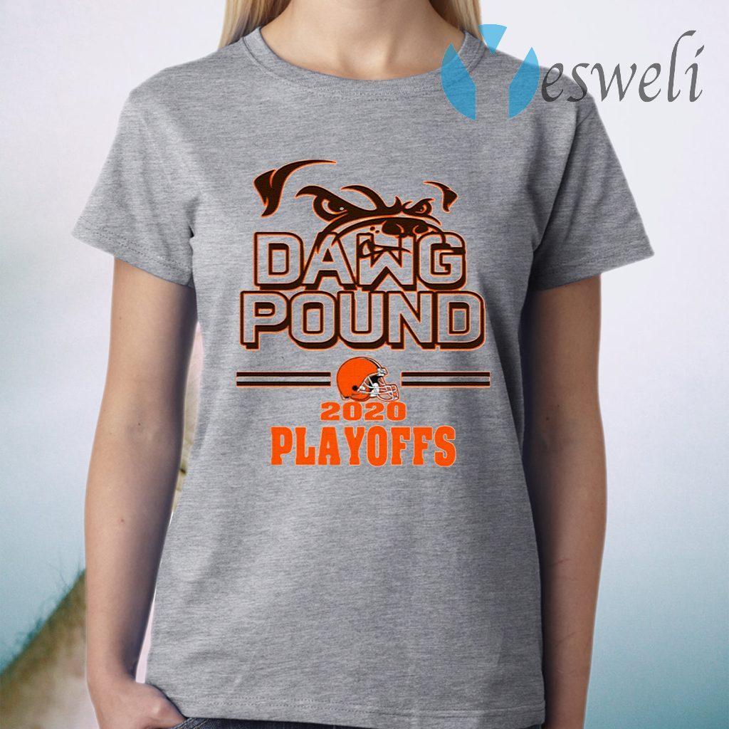 Dawg Pound 2020 Playoffs Cleveland Browns T-Shirt